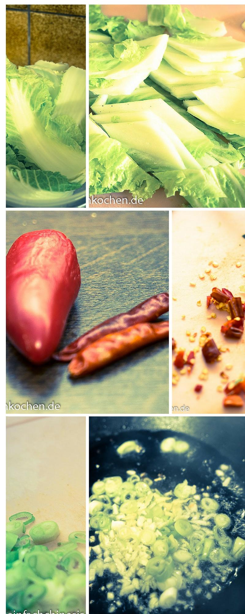 Chinakohl sauer scharf schritt zum kochen einfach for Chinesisch kochen