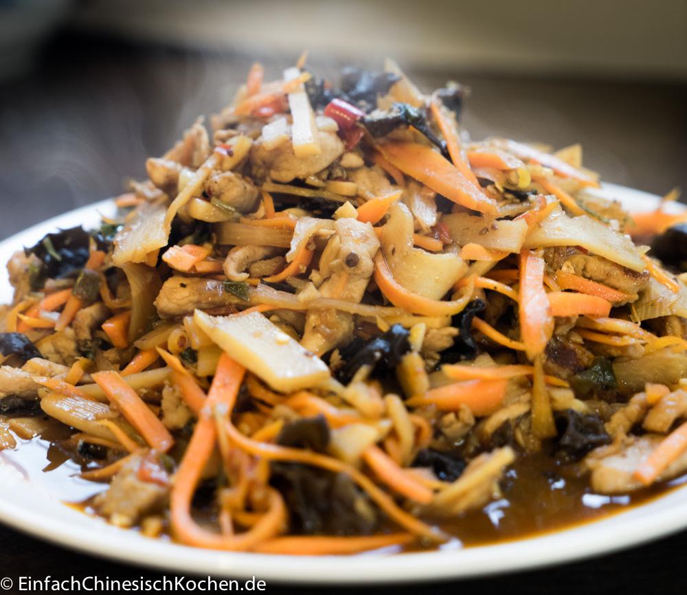 chinesische Schweinestreifen-mit-Fisch-Aroma