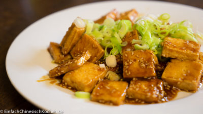 糖醋脆皮豆腐-süß-sauer-knuspriger Tofu nach chinesischer Art